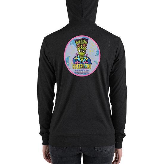Retro Frankie Unisex zip hoodie