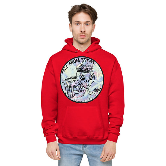 Space Grace Unisex fleece hoodie