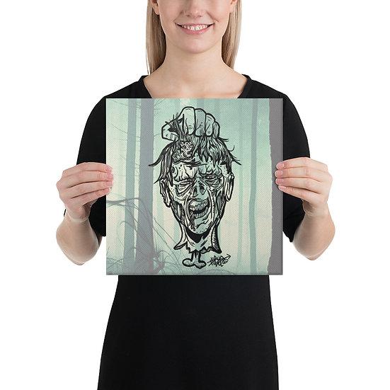 Zombie Head Canvas