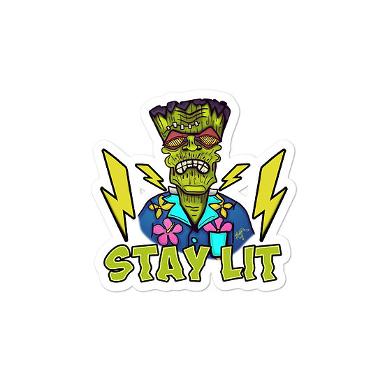 Stay Lit Bubble-free stickers