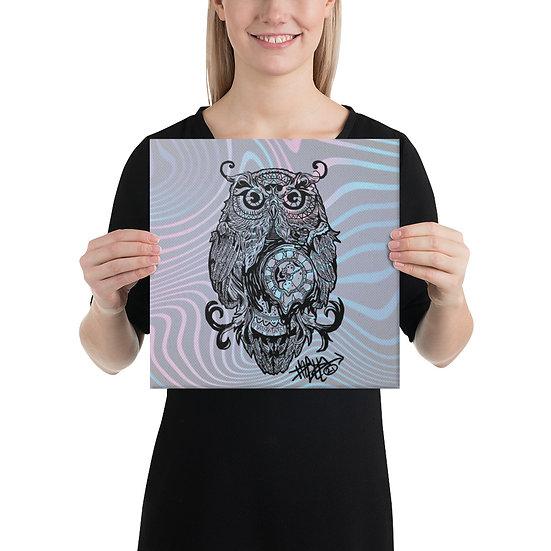 Owl Clock Canvas
