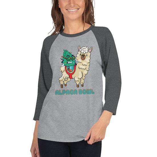Alpaca Bowl 3/4 sleeve raglan shirt