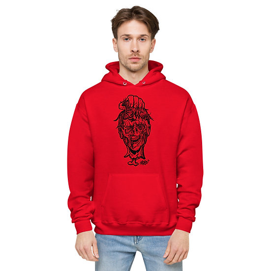 Zombie Head Unisex fleece hoodie