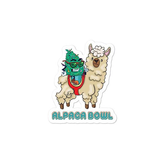 Alpaca Bowl Bubble-free stickers