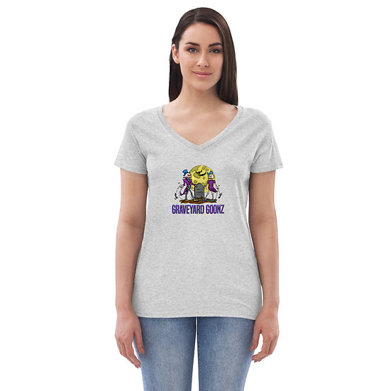 Grave Couple Women's recycled v-neck t-shirt