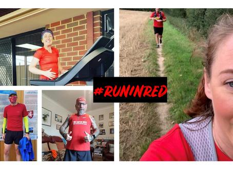 #RunInRed Weekend