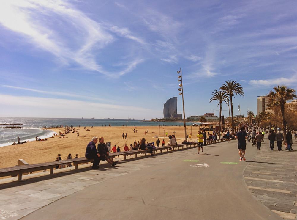 ruta bicicleta barcelona - barceloneta