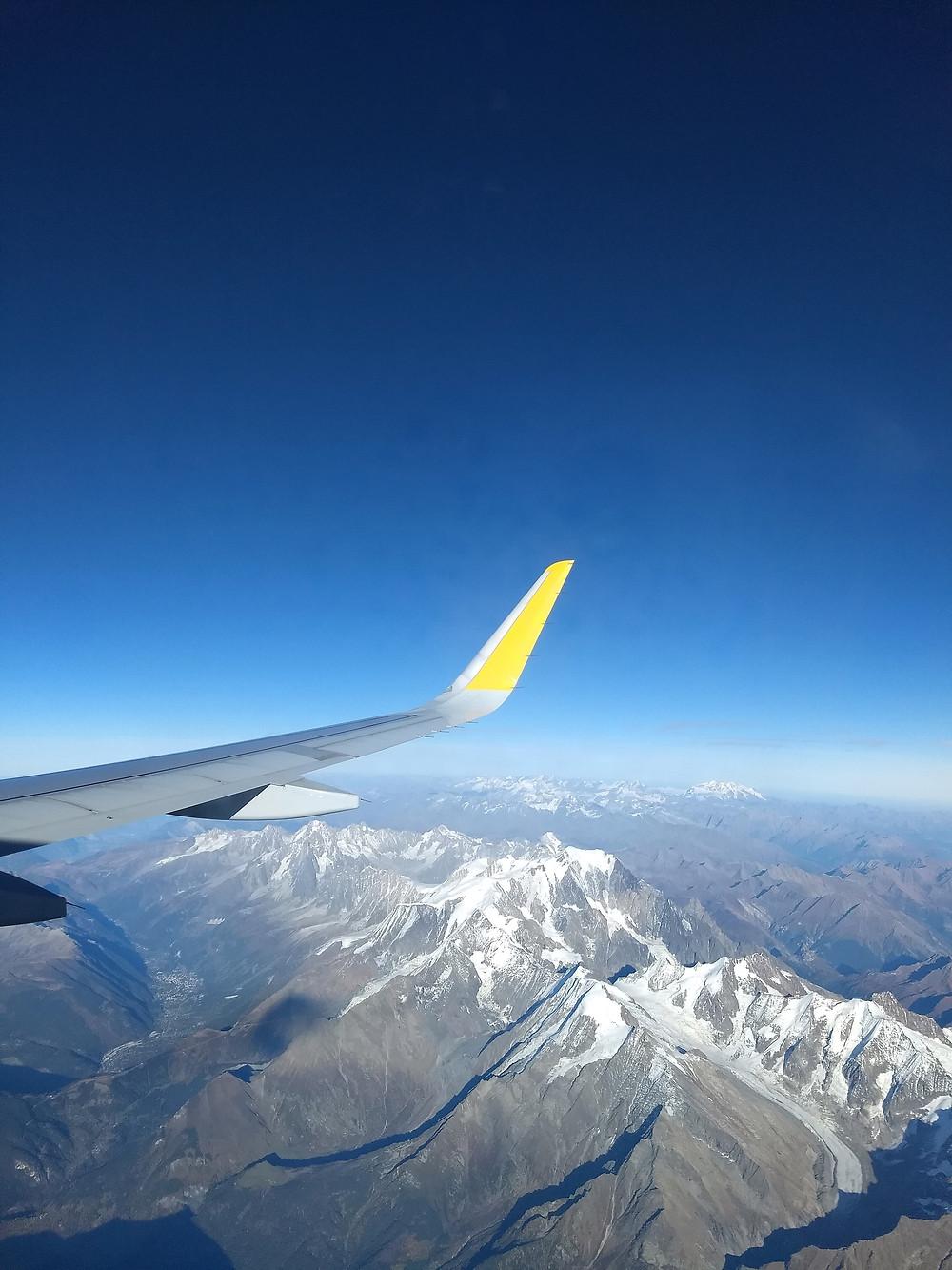 vistas desde el avion