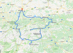 ruta por austria, dolomitas y baviera