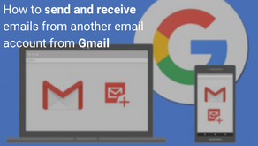 How to send and receive emails from another email account from Gmail