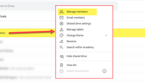 How to share a folder from Shared Drive with a User
