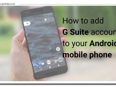 How to add G Suite account to your Android mobile phone