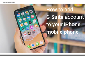 How to add your G Suite account to your iPhone mobile phone