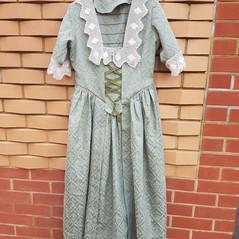 Victorian style dress (handmade by volunteer Veronica)