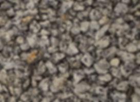 Образец серого щебня. Фото.