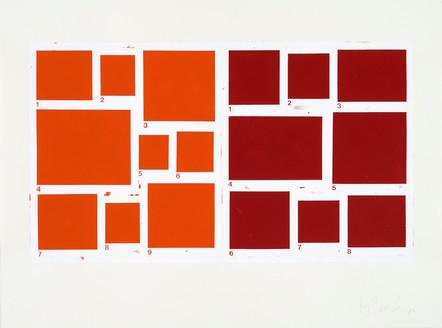 1-9/1-8, 2003, acrylique sur papier, 56 x 76 cm (Collection privée)