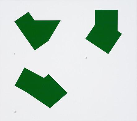 1-3 Schéma Kelly, 2006 acrylique sur toile, 46 x 51 cm