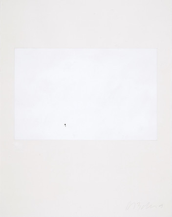 Moine au bord de la mer de Friedrich, 2003, acrylique et lettrage sur papier, 46 x 38 cm (collection privée)