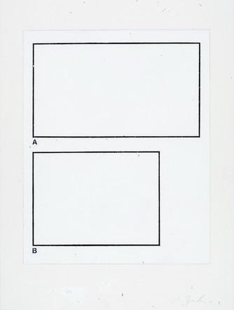 A-B, 2001, acrylique sur papier, 51 x 38 cm