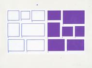 1-7/1-7, 2002, acrylique sur papier, 56 x 76 cm (Collection privée)