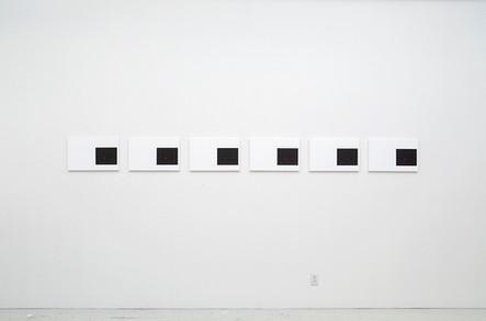 Catalogue nº 4 (Night Blinks), 2014, acrylique et huile sur toile, 6 éléments de 32 x 50 cm