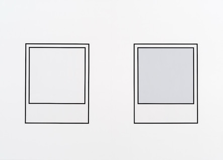 Prototype (noir nº 1) / Prototype (noir nº 2), 2018, acrylique sur toile, 152 x 213 cm