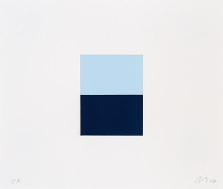 Plein ciel/Bas du fleuve, 2007, acrylique sur papier, 19 x 23 cm, édition de 20
