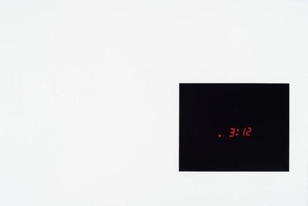 3h12, 2015, huile sur papier, 30.5 x 45.5 cm