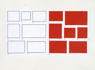 1-7/1-7, 2002, acrylique sur papier, 56 x 76 cm