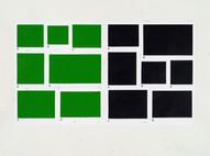 a-g/a-g, 2002, acrylique sur papier, 56 x 76 cm (Collection privée)