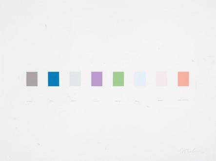 Mirage, Myth, Wraith, Illusion, Utopia, Bluff, Dream, Make Believe, 2005, acrylique sur papier, 56 x 76 cm (Collection privée)