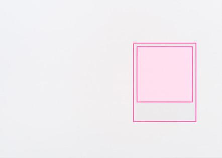 Prototype (rose), 2018, acrylique sur toile, 152 x 213 cm