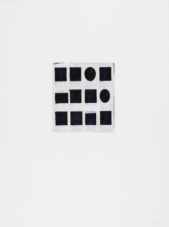 Sans-titre, 1999, crayon gras et photocopie sur papier, 51 x 38 cm