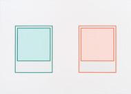 Prototype (vert nº 2) / Prototype (rouge nº 3), 2018, acrylique sur toile, 152 x 213 cm