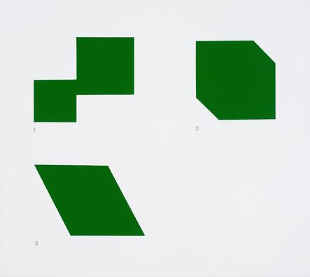 1-3 Schéma Kelly, 2006, acrylique sur toile, 46 x 51cm (Collection privée)