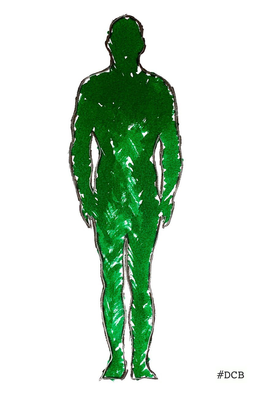 Green brush Man