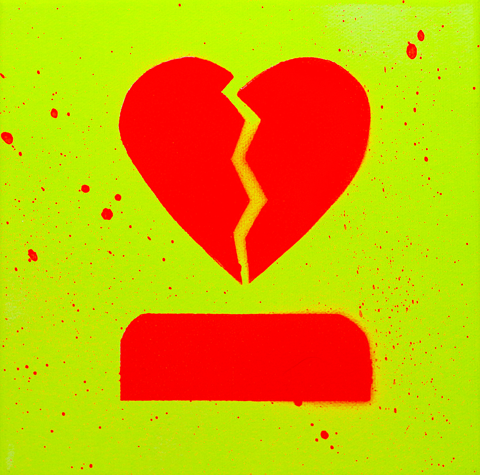 Yellow Heart Break (fluorescent)