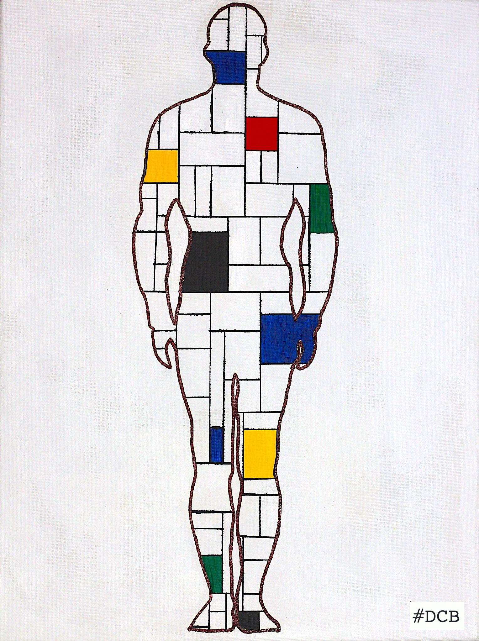 Mondrian Man-40x30