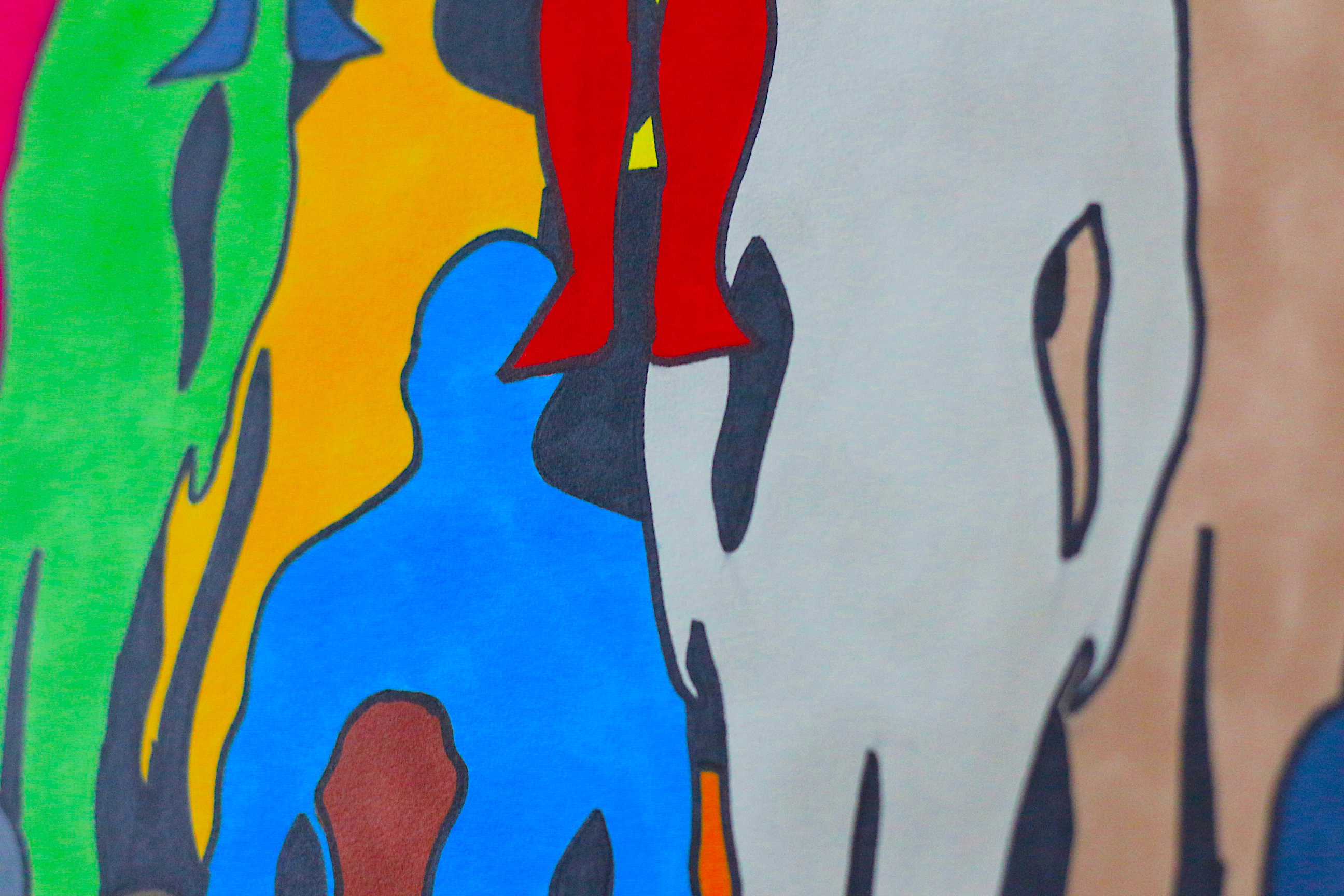 Colored Crowd detail