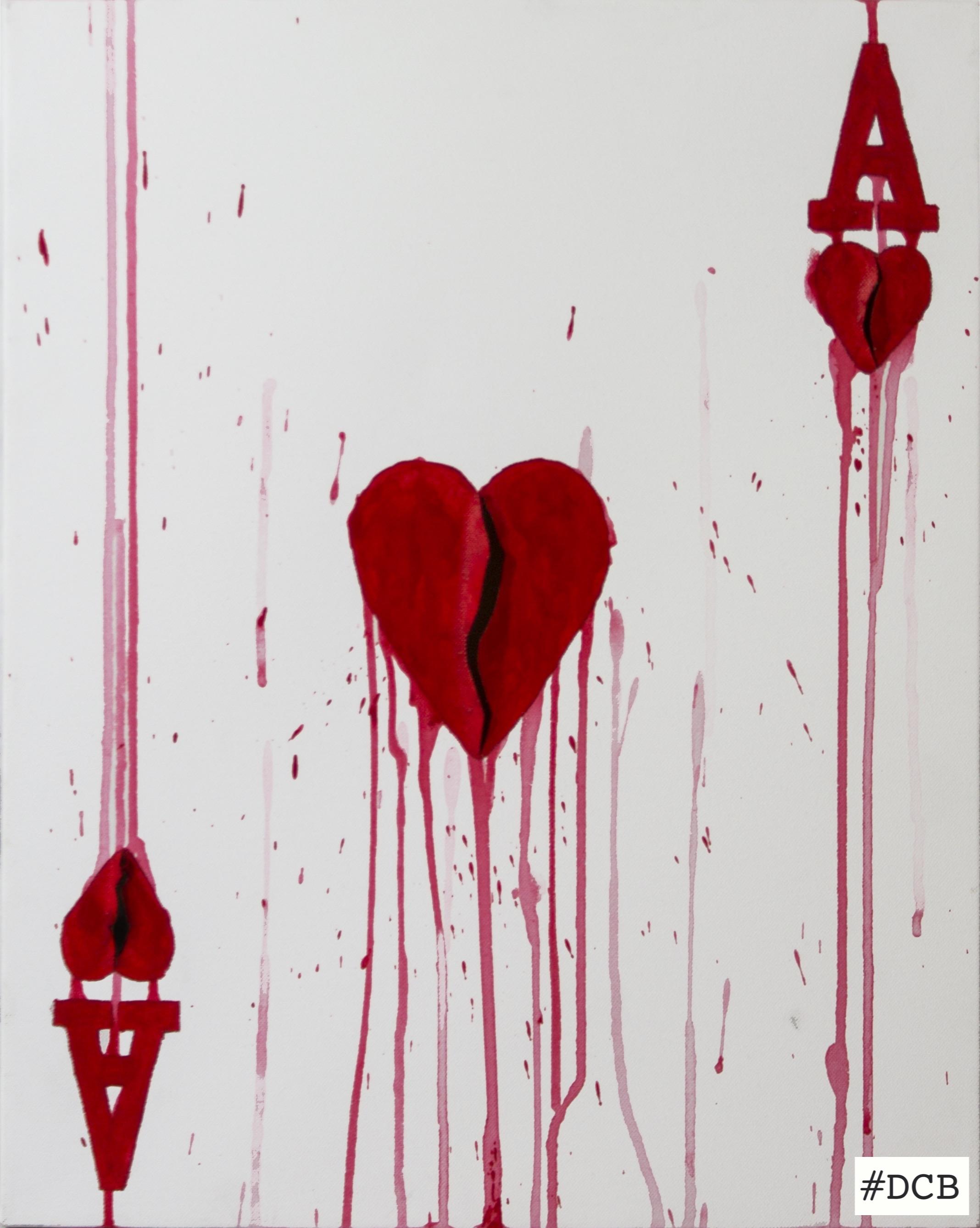 Sick heart (asso di cuori)-50x40