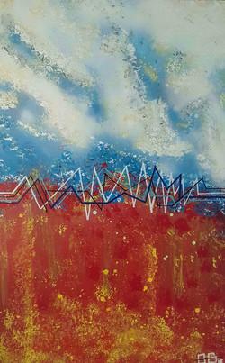 zig zag lines painting