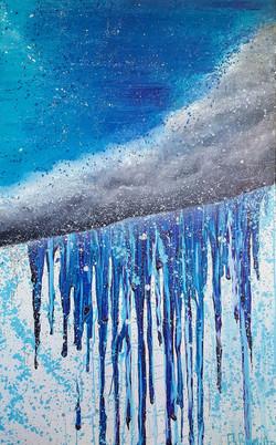 rain cloud painting