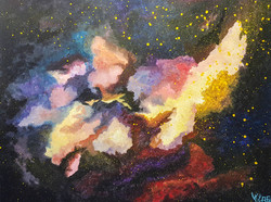 abstract outer space painting