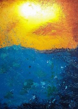 ocean sunset painting
