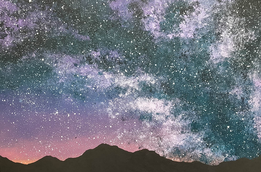 milky way painting