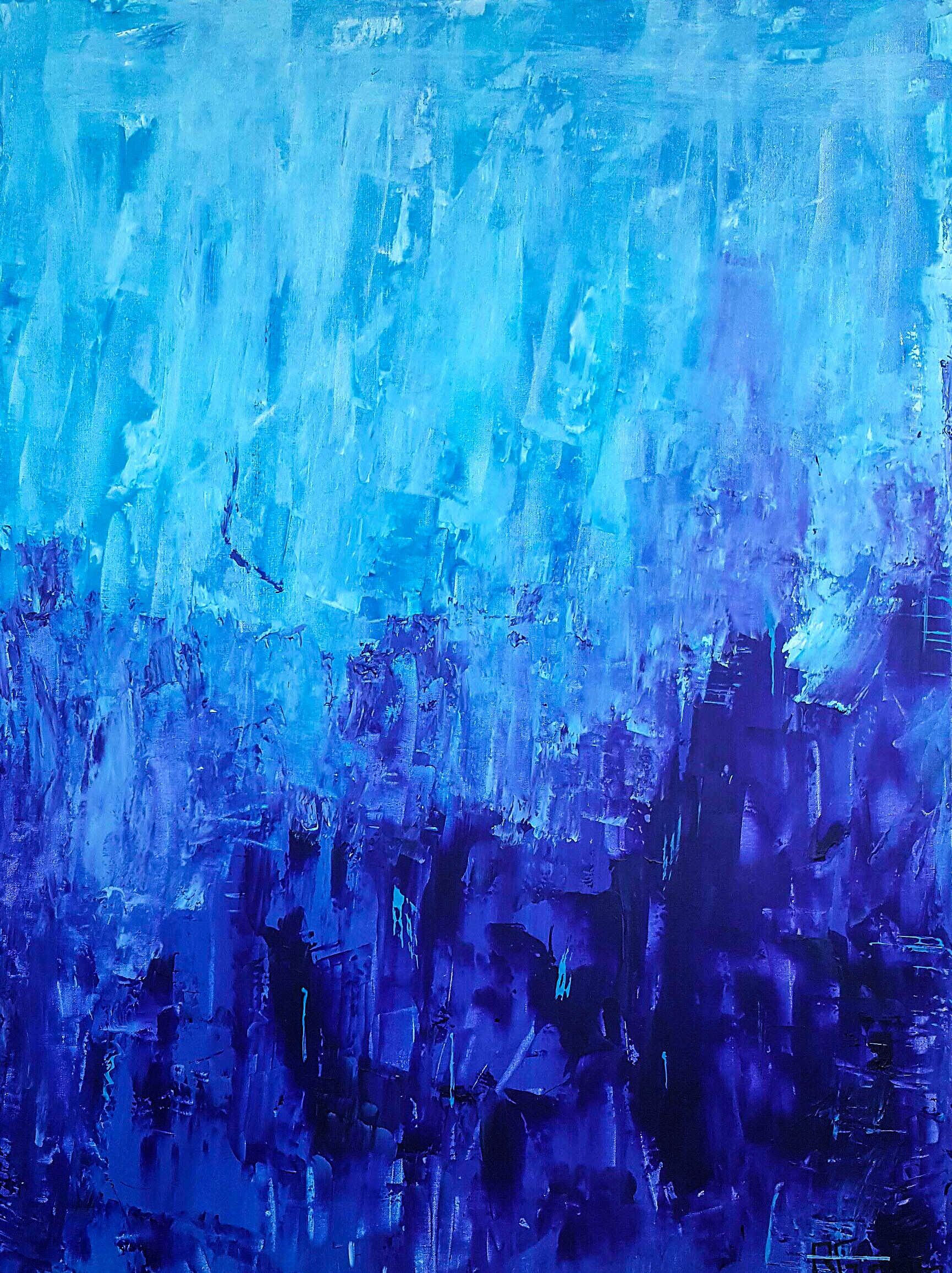blue and purple painting
