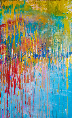 abstract painting with lines