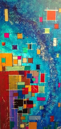 abstract painting with colors