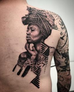 African Woman Tattoo