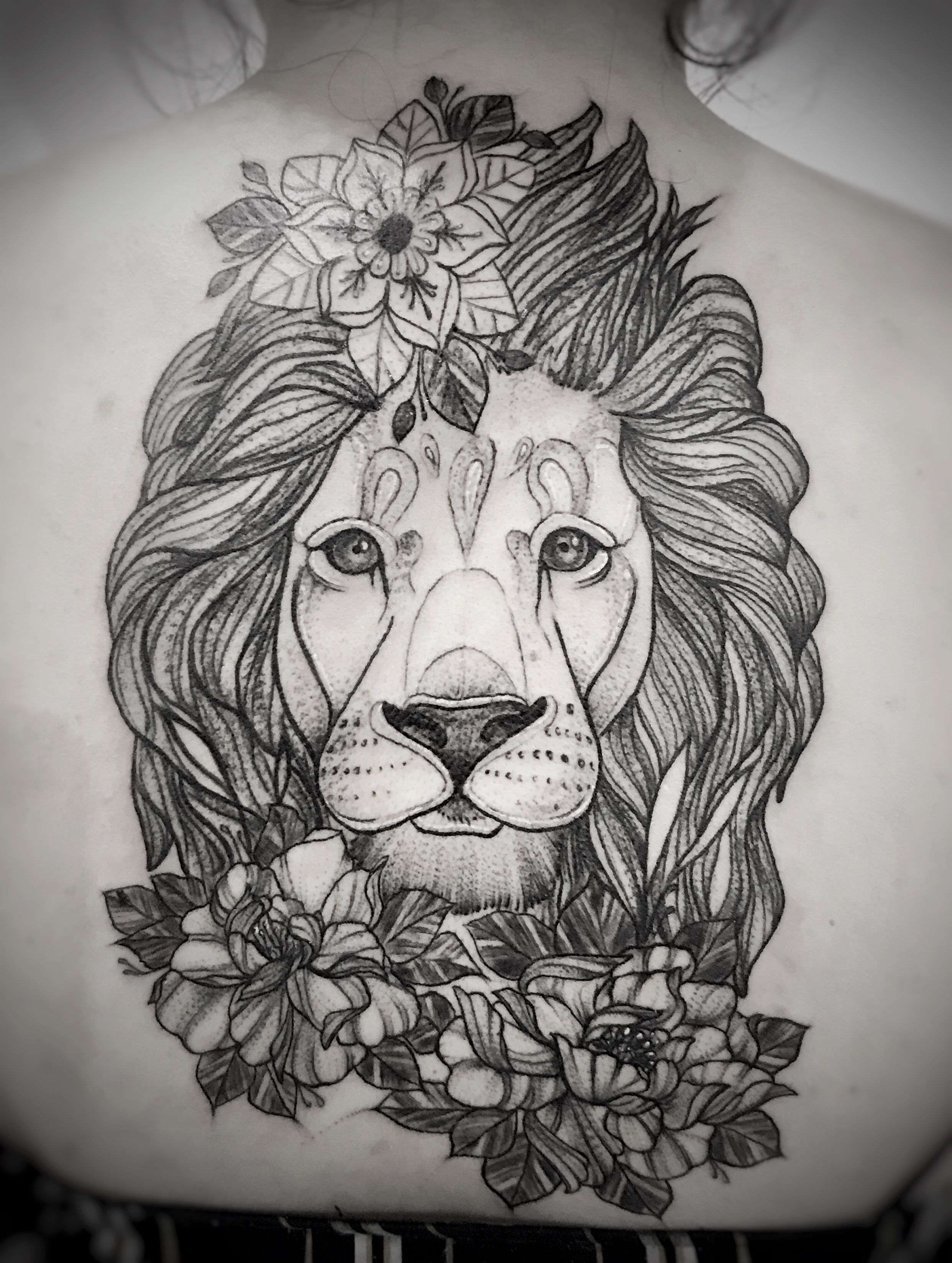 Blackwork Lion